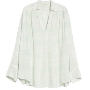 NWT Free People button down shirt blouse L
